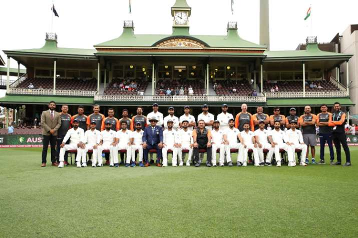 Indian team poses for a photo shoot during Day 5 of the