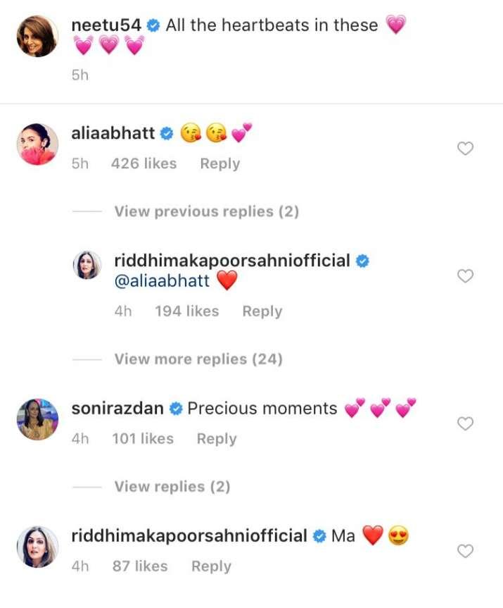 India Tv - Neetu Kapoor calls Alia Bhatt and Ranbir Kapoor her heartbeats