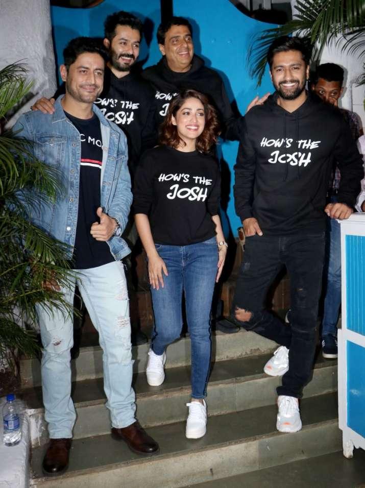 India Tv - Vicky Kaushal celebrates Uri success