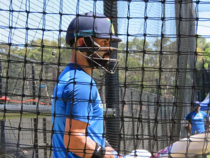 India Tv - CaptainKohli, who got out cheaply in the first match, looked to better his concentration at the nets