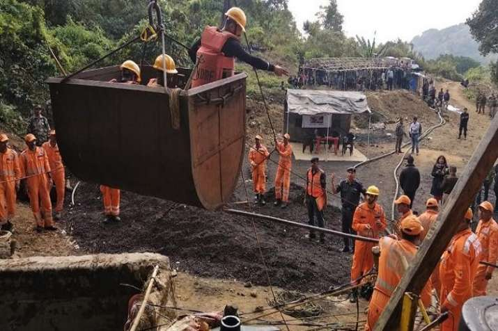 Operations underway at Meghalaya mine.