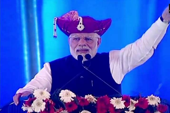 Taking a jibe at the Opposition, PM Modi during his address
