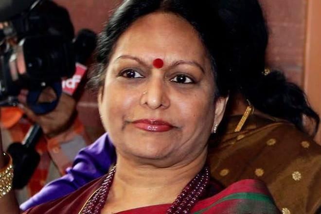 Nalini Chidambaram, the wife of former Union finance