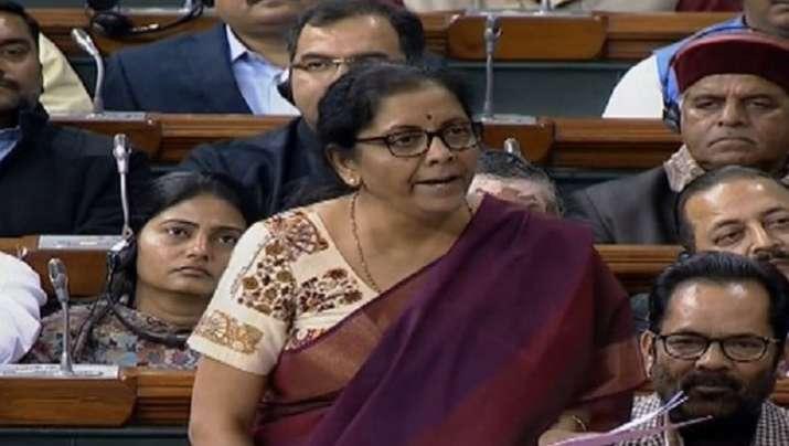 Defence Minister Nirmala Sitharaman in Lok Sabha