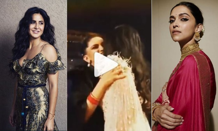So sweet! Katrina Kaif and Deepika Padukone hug at Star