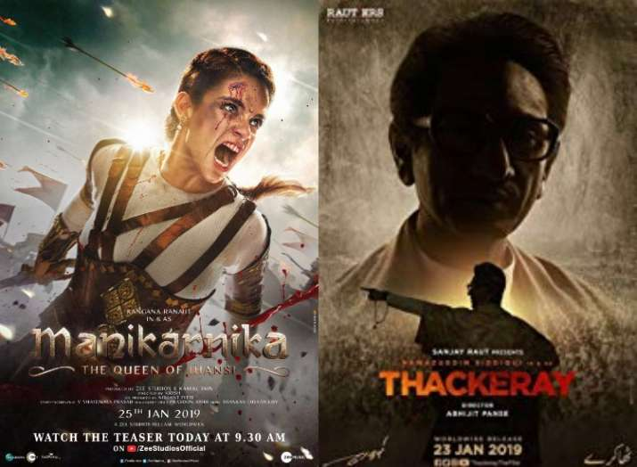 Manikarnika: The Queen Of Jhansi and Thackeray in cinema halls today
