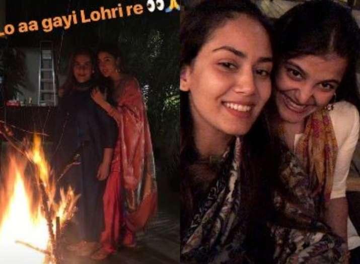 Sara Ali Khan enjoys Lohri with family, Mira Rajput