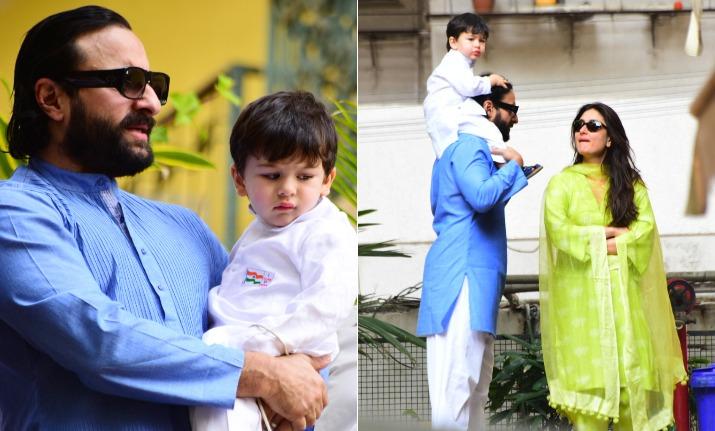 Taimur Ali Khan with mom Kareena and dad Saif
