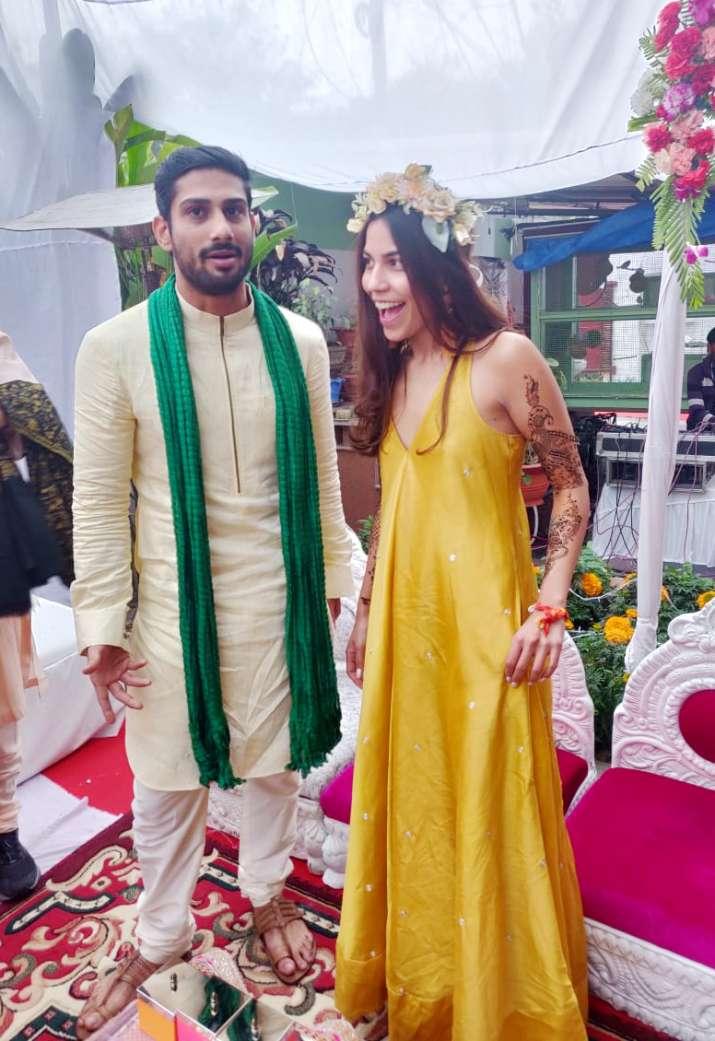 India Tv - Prateik Babbar'smehendiandhaldiceremony pictures