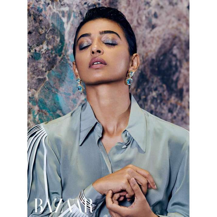 India Tv - Cover girl Radhika Apte opts for monochrome separates; actress looks stunning in these exclusive pictures