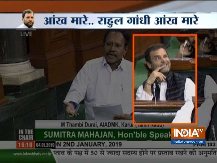 Rahul Gandhi does it again, winks in Parliament during