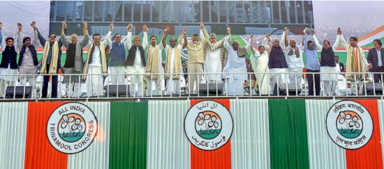 Mamata gives clarion call at mega rally, opposition parties