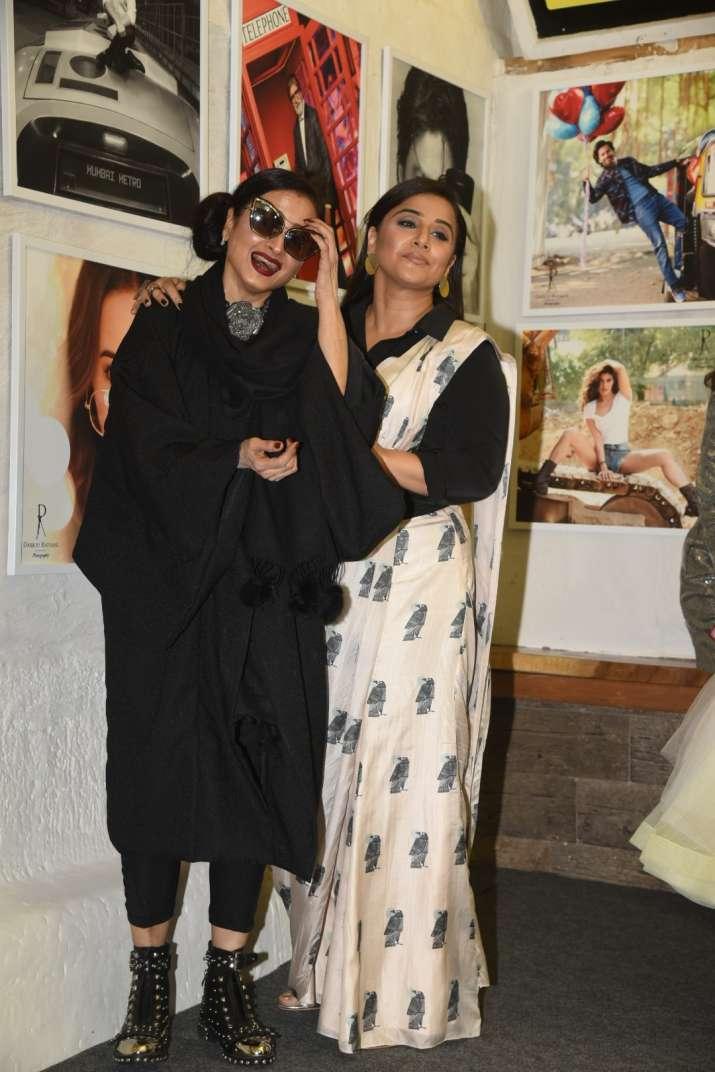 India Tv - Rekha and Vidya Balan