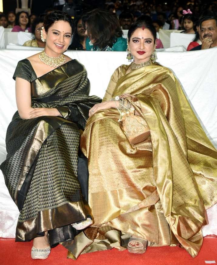 India Tv - Rekha bonds with Kangana Ranaut