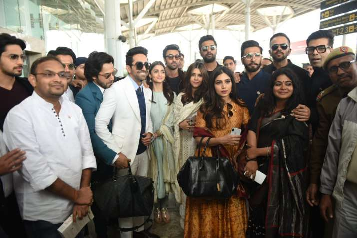 India Tv - Bollywood celebrities arrive in Delhi to meet PM Modi