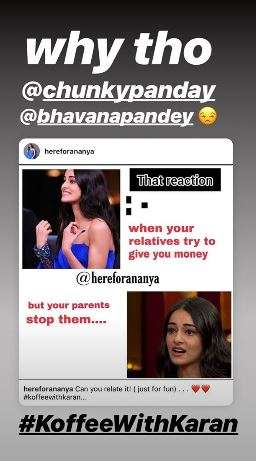 India Tv - Ananya Panday's appearance on Koffee With Karan turns into meme fest