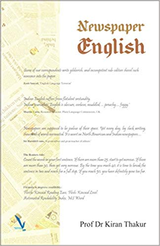 The cover of Newspaper English, written by veteran