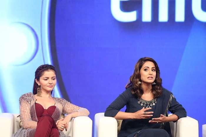 India Tv - Hina Khan and Rubina Dilaik