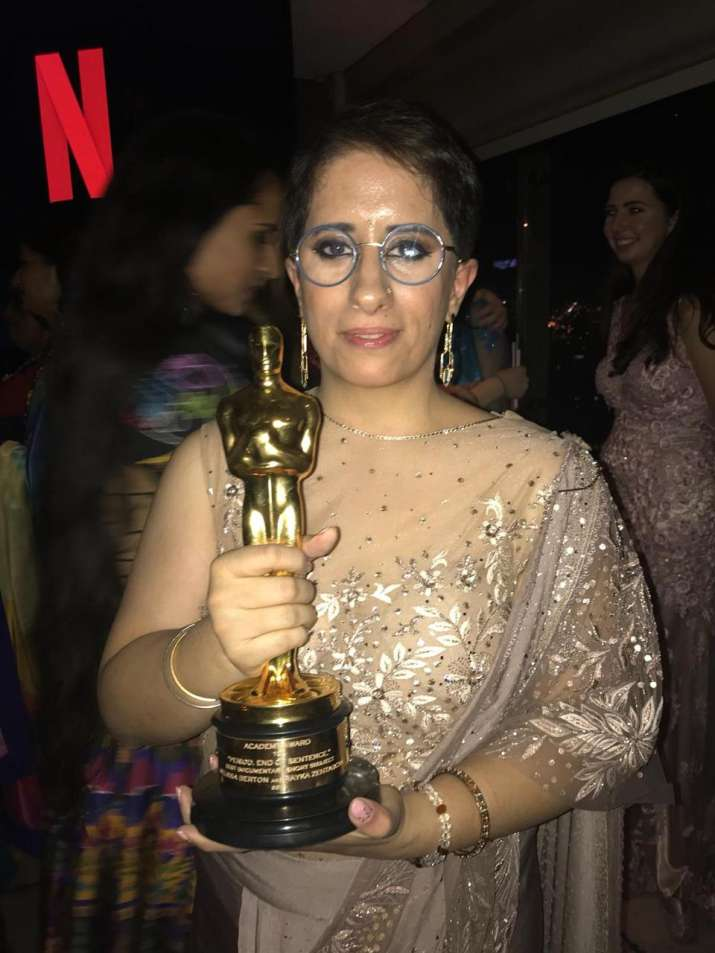 India Tv - Guneet Monga's Period. End of Sentence wins Best Documentary Short