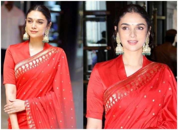 India Tv - Aditi Rao Hydari  is pro at pulling off six yards of elegance