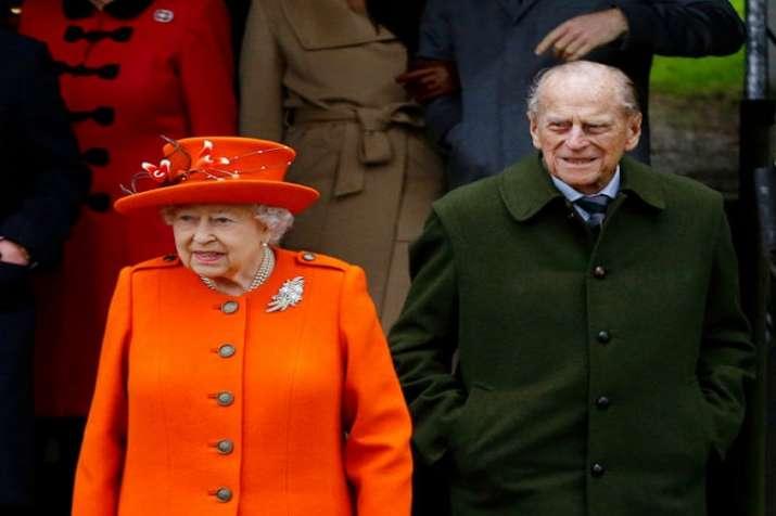 Queen Elizabeth II with her husband Prince Philip.