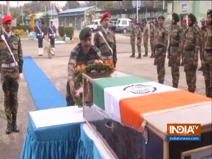 Army pays tribute to martyr Major Bisht, killed in IED blast along LoC in Jammu and Kashmir