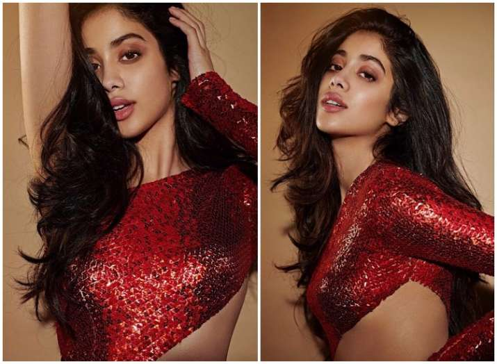 Cover girl Janhvi Kapoor looks stunning in hot red, see the latest pics inside