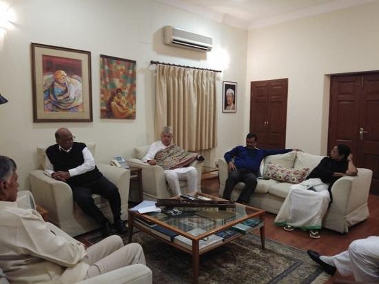 Opposition leaders meet at Sharad Pawar's residence in Delhi