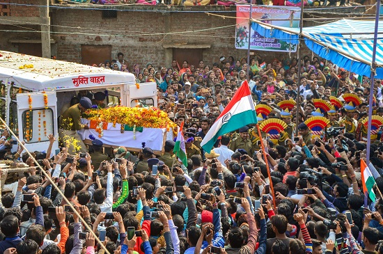 India Tv - A large number of people attend the funeral procession of CRPF jawan Ashwani Kochi, who lost his life in Pulwama terror attack
