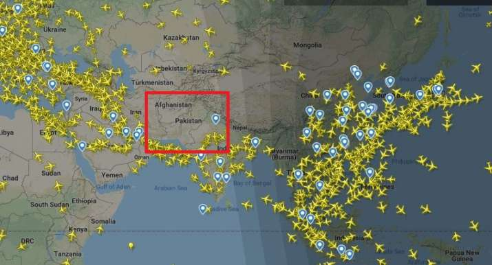 India Tv - International flights maintain distance from Pak air space