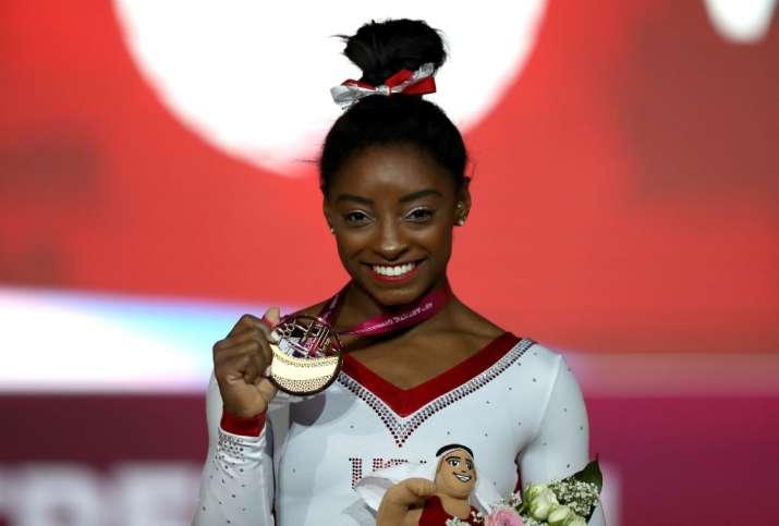 India Tv - Simone Biles won the Sportswoman of the Year award