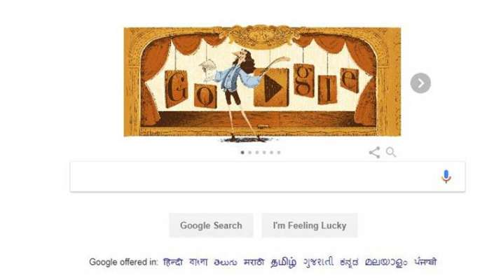 Google honors world's first comic dramatist Molière with a Doodle