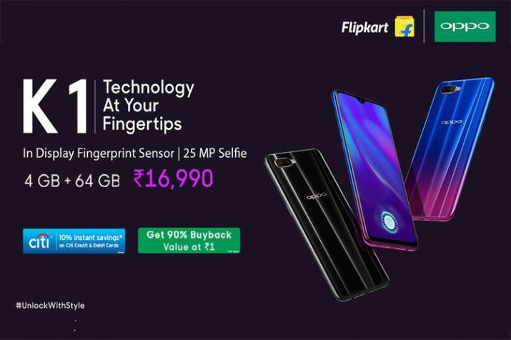 Oppo K1 with Snapdragon 660 SoC and in-display fingerprint sensor launched in India at Rs 16,990