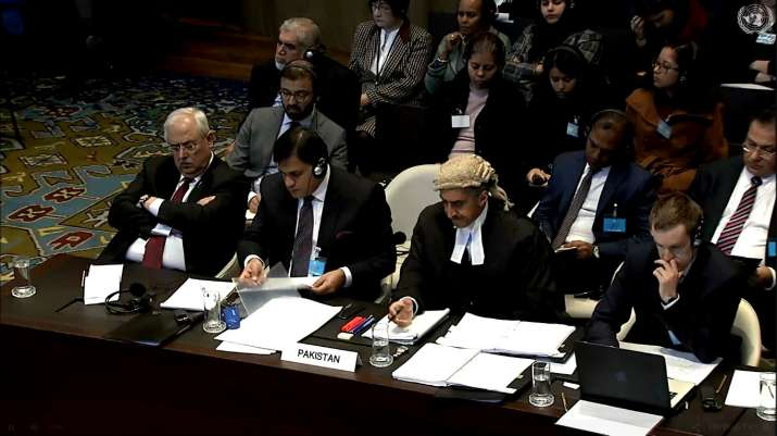 India Tv - The empty chair at Pakistan's table belongs to the country's ad hoc judgeTassaduq Hussain Gillani, who reportedly had a heart attack during the proceedings. He was rushed to the hospital, where he is said to be in a stable condition.