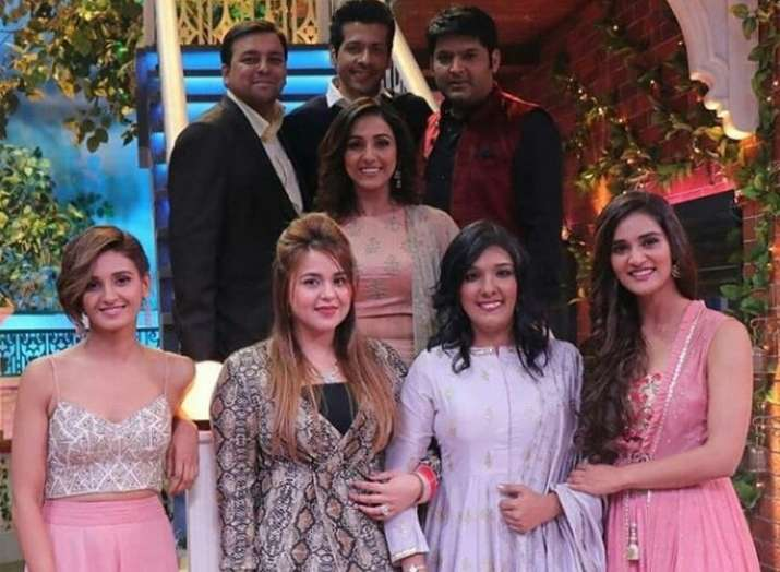 Kapil Sharma's wife poses with Neeti, Mukti and Shakti Mohan on The Kapil Sharma Show