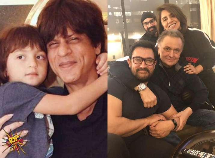 Shah Rukh Khan's picture with son Abram, Aamir Khan
