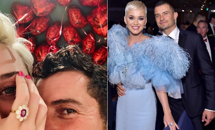 katy perry orlando bloom engagement