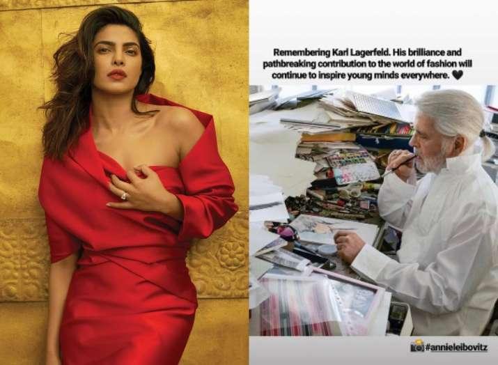 Priyanka Chopra pays tribute to iconic fashion designer Karl Lagerfeld