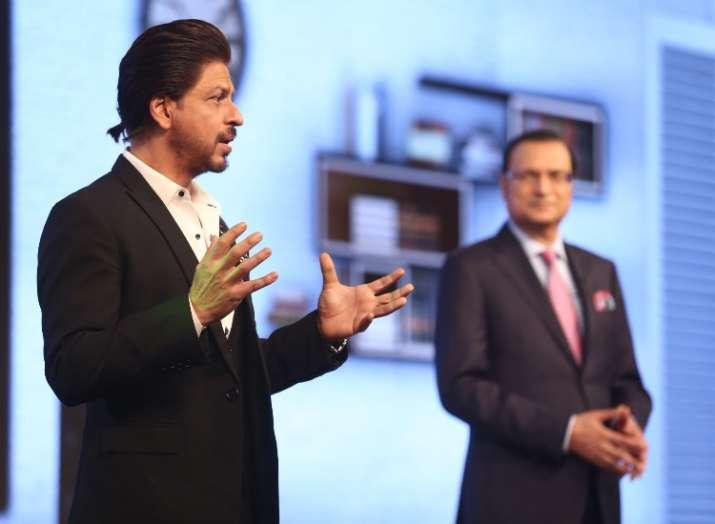 India Tv - Shah Rukh Khan and Mr. Rajat Sharma