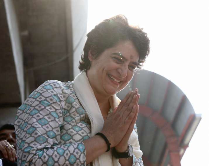 India Tv - It was Priyanka'sfirst visit to the state after becoming the Congress General Secretary East UP ahead of the Lok Sabha elections.