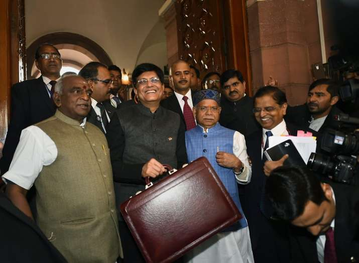 Finance Minister Piyush Goyal with MoS Finance ministers