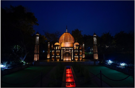 A replica of Taj Mahal at 'Waste to Wonders park',