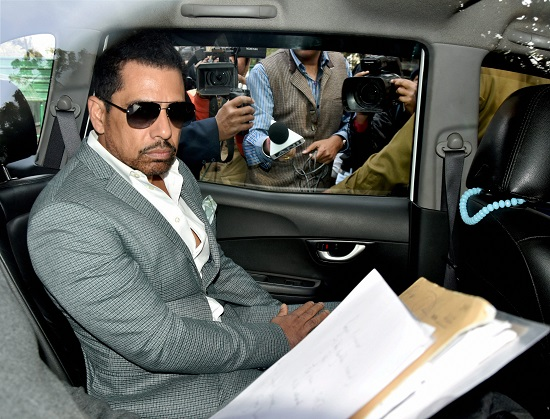 Businessman Robert Vadra arrives at the Enforcement