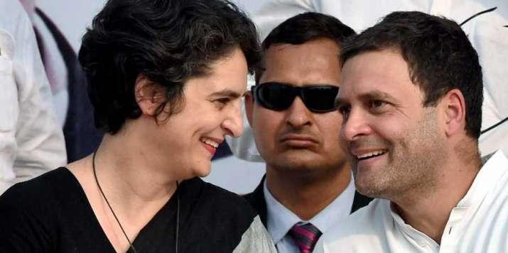 Rahul Gandhi with Priyanka