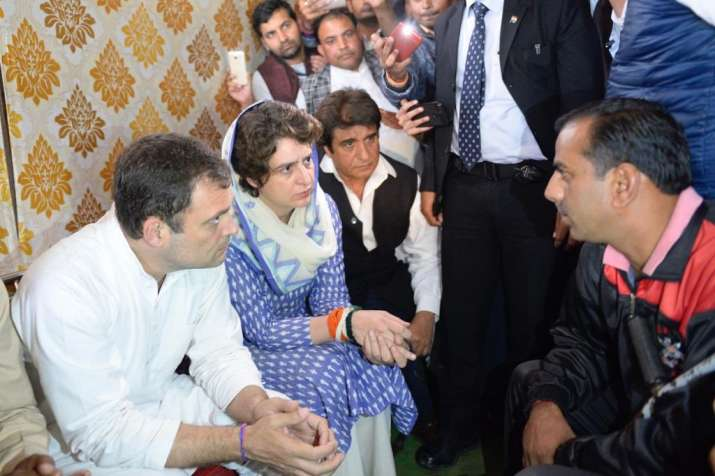 Rahul, Priyanka attend prayer meeting for slain CRPF jawan in UP's Shamli