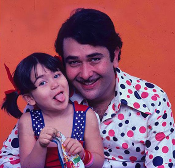 India Tv - Randhir Kapoor's picture with little Karisma Kapoor is too cute for words