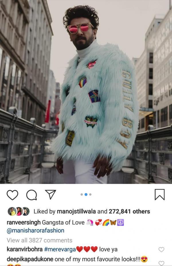 India Tv - Deepika Padukone's reaction to Ranveer Singh's funky look at Berlinale 2019