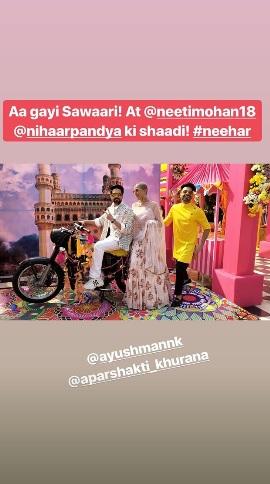 India Tv - Ayushmann Khurrana, Tahira Kashyap and Aparshakti at Neeti-Nihar's Mehendi ceremony