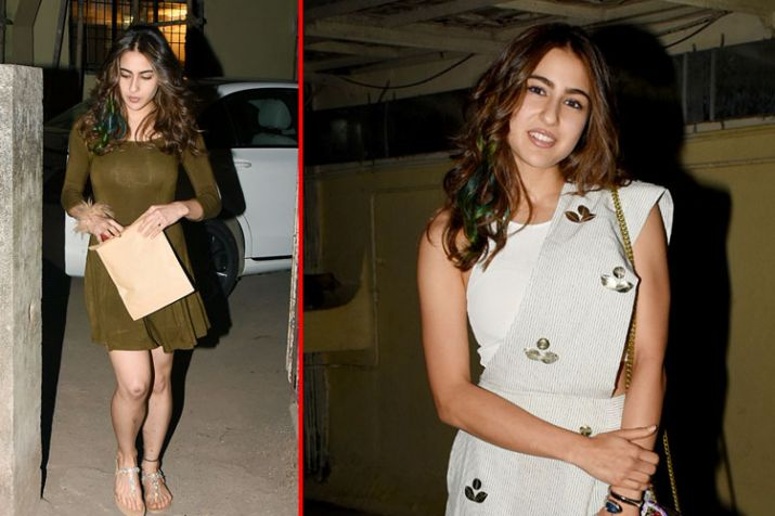 Sara Ali Khan S Pretty Hair Highlights In Hues Of Green And
