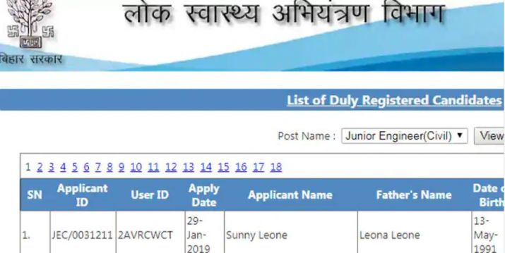 India Tv - SUNNY LEONE tops Bihar JE merit list with 98.5 marks, fans call her a perfect blend of beauty and intelligence